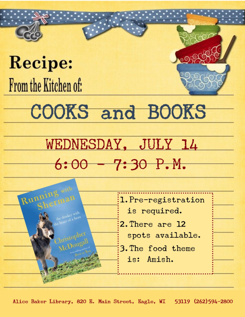 Cooks and Books - Running with Sherman