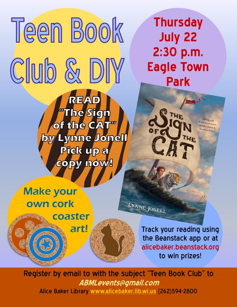 Teen Book Club & DIY July