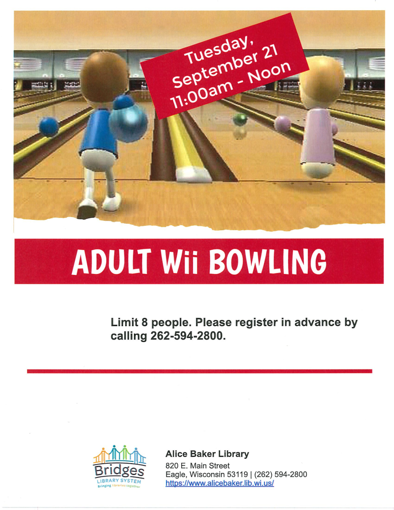 Adult Wii Bowling (September)