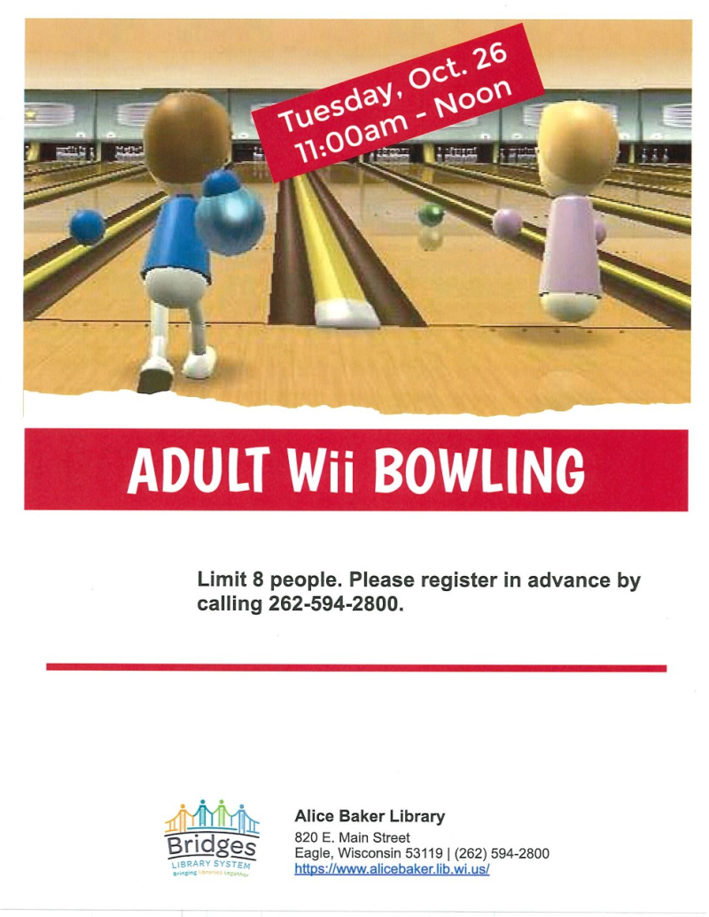 Adult Wii Bowling (October)