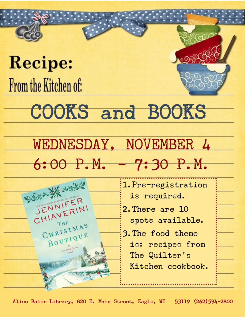 Cooks and Books - Christmas Boutique