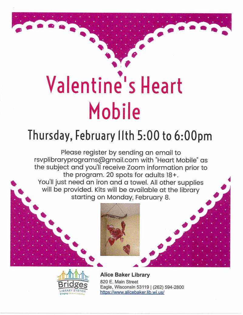 Valentine's Heart Mobile flyer