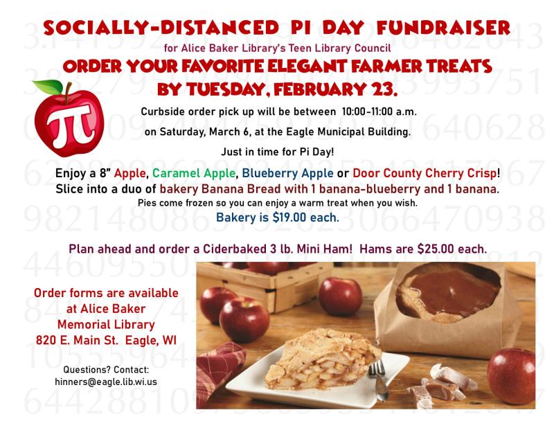 Publication pi day fundraiser flyer