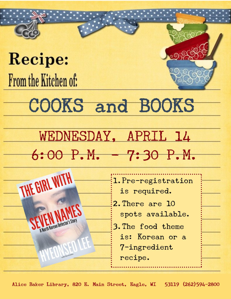Cooks and Books - The Girl with 7 Names