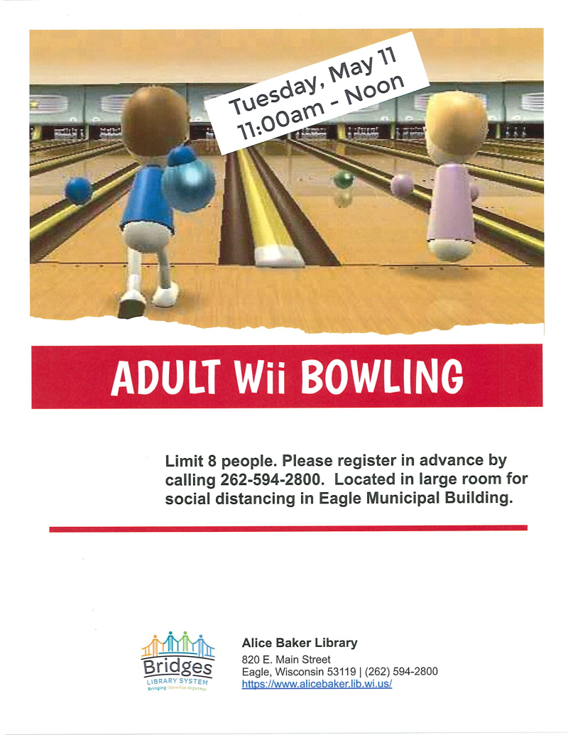 Adult Wii Bowling 5-11-21