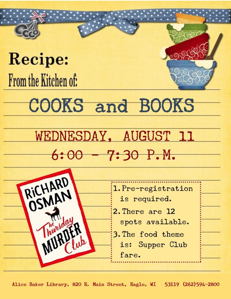 Cooks and Books - Thursday Murder Club