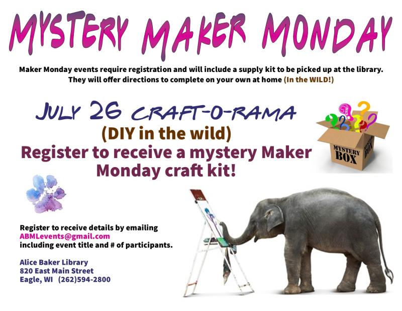 Mystery maker monday july