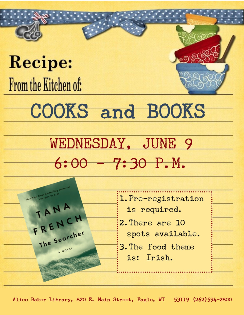 Cooks and Books - The Searcher