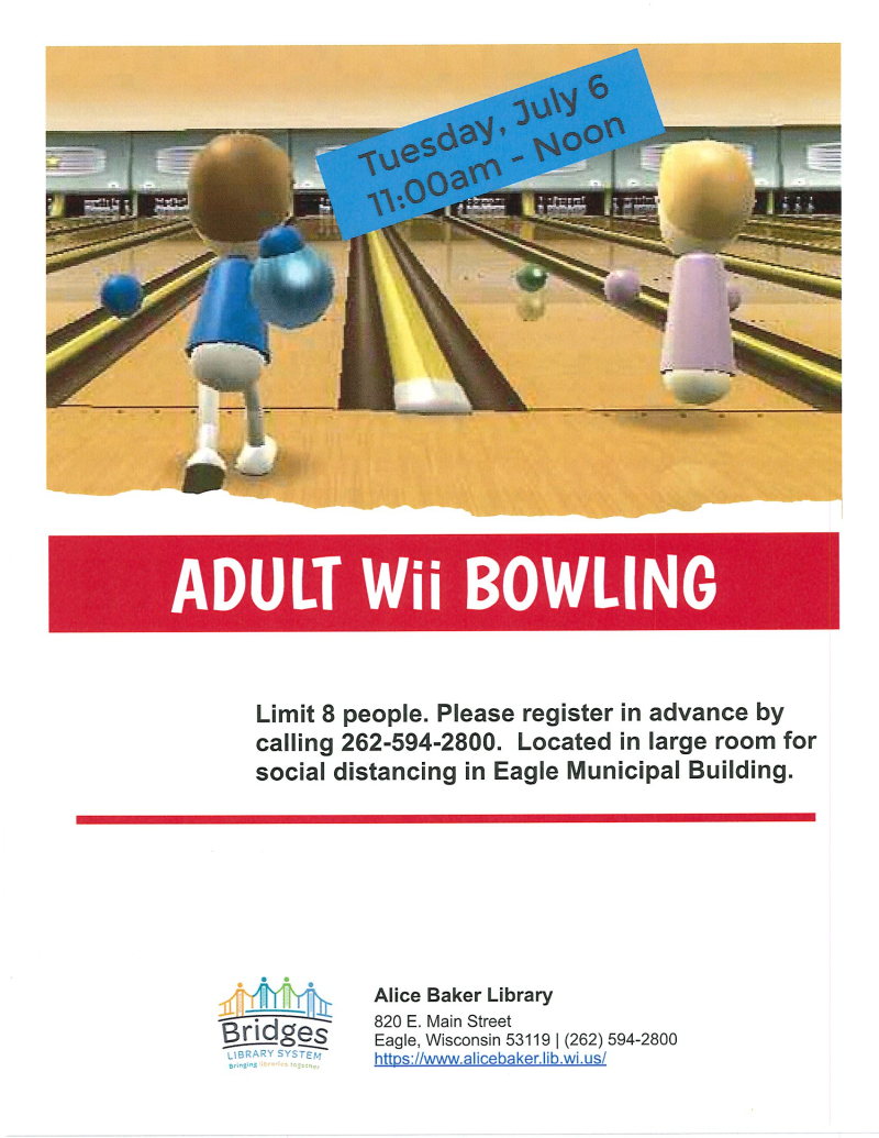 Adult Wii Bowling 7-6-2021