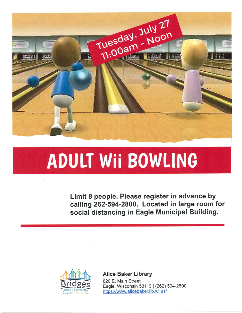 Adult Wii Bowling 7-27-2021
