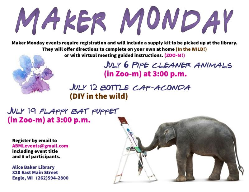 Maker monday july