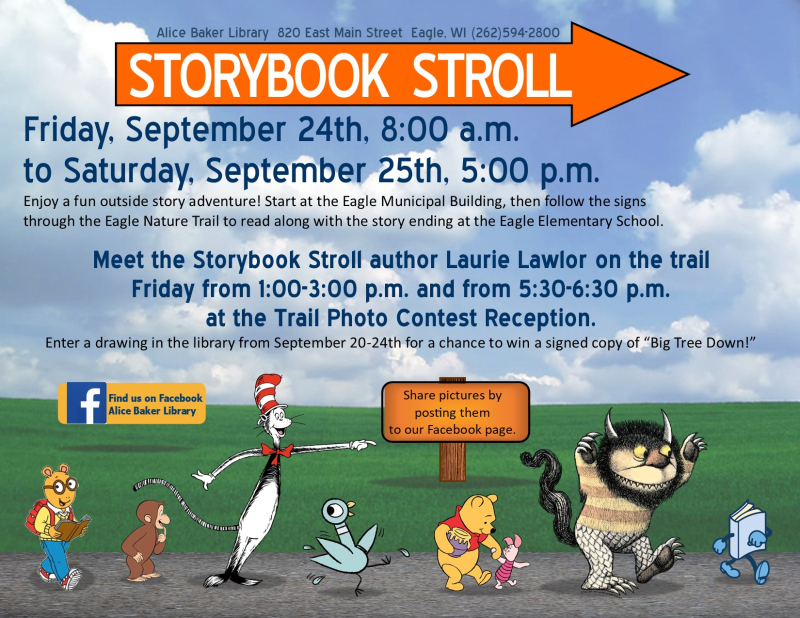 Storybook stroll on nature trail